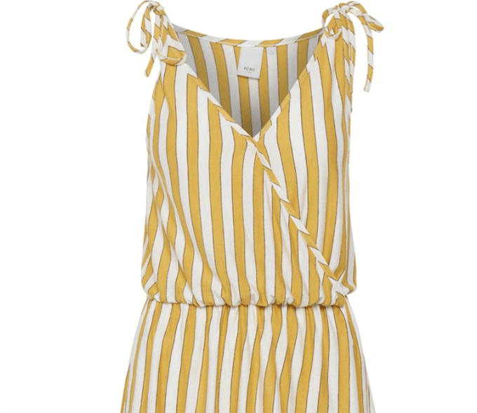 Clayton Yellow Stripe Vest Top