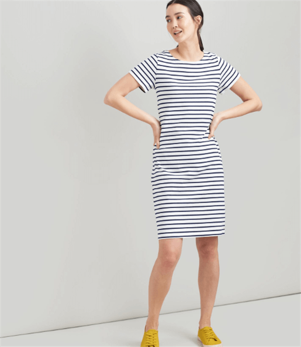 Riveria Cream Navy Stripe