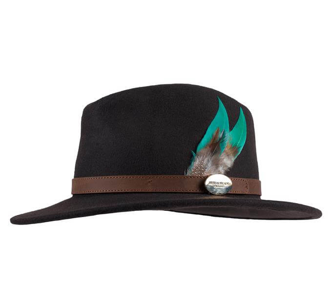 Feathered Fedora with Turquoise