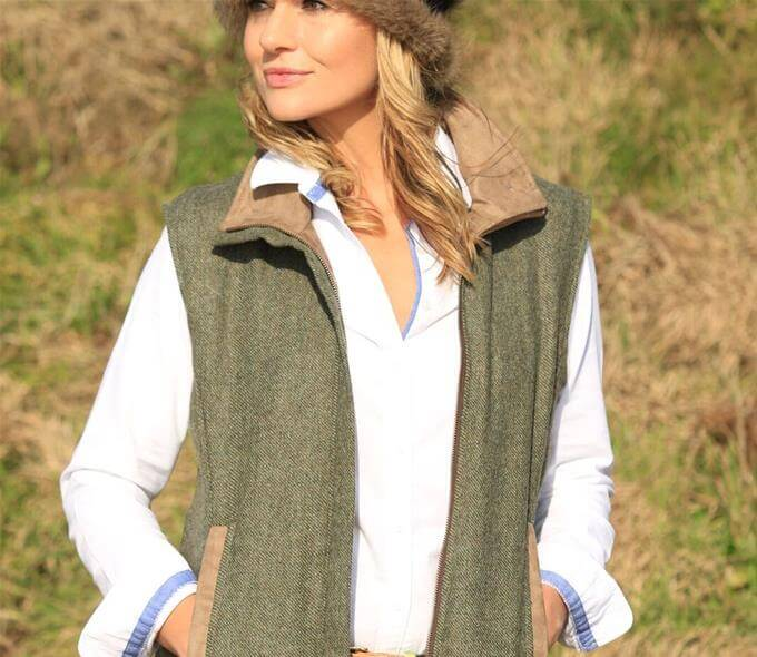 Pelham Gilet - Green Tweed